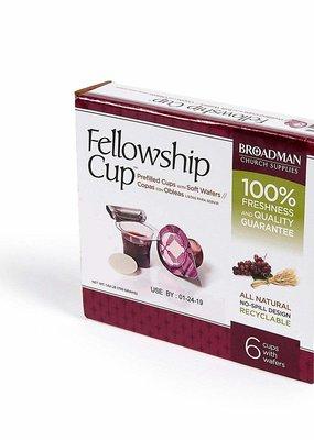 Broadman Communion-Fellowship Cup Prefilled Juice/Wafer (Box Of 6)