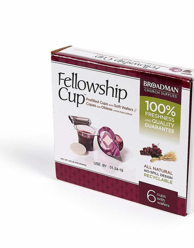 Broadman Communion-Fellowship Cup Prefilled Juice/Wafer (Box Of 6)