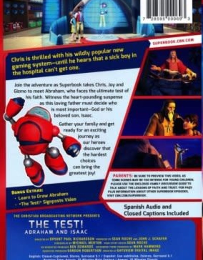 Charisma Media DVD - SuperBook The Test! - Abraham and Isaac