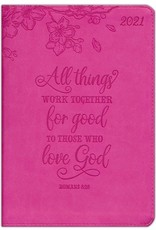 All Things Work Together (Romans 8:28), 2021 Executive Planner with Zipper, Pink