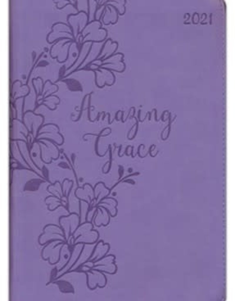Amazing Grace, 2021 Executive Planner with Zipper, Purple