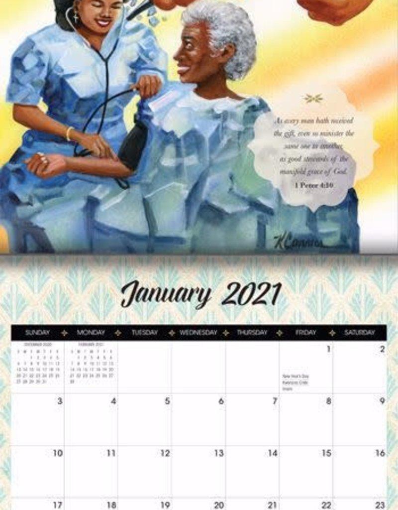 African American Expressions Calendar - 2021 Walking by Faith Wall Calendar