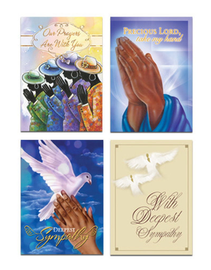 African American Expressions Boxed Cards - Sympathy Card Boxed Assortments Box of 12