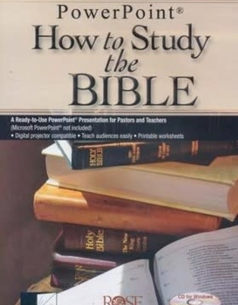 Rose Publishing How to Study the Bible, Powerpoint CD-ROM
