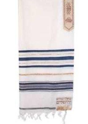 "Tallit-12 Tribes (72"" x 24"")-Blue Yehuda Acrylic (#2203)"
