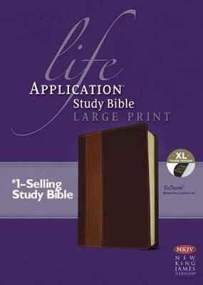 Tyndale NKJV Life Application Study Bible/Large Print-Brown/Tan TuTone Indexed
