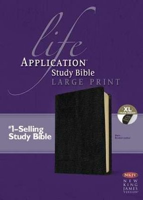 Tyndale NKJV Life Application Study Bible-Large Print-Black Bonded Leather Indexed
