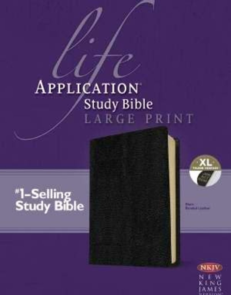 Tyndale NKJV Life Application Study Bible-Large Print-Black Bonded Leather Indexed