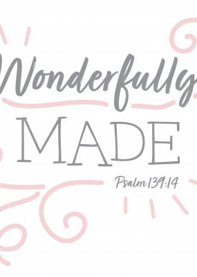Fruitful Kids Scripture Swaddle: Wonderfully Made (Pink, 47x47)