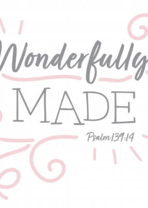 Fruitful Kids Scripture Swaddle: Wonderfully Made (Pink, 47x47)