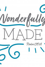 Fruitful Kids Scripture Swaddle: Wonderfully Made (Blue, 47x47)