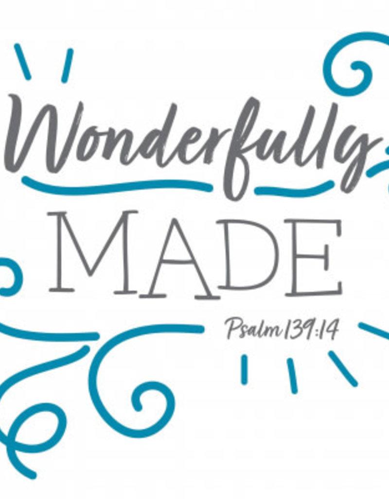Fruitful Kids Scripture Swaddle: Wonderfully Made (Blue, 47x47)