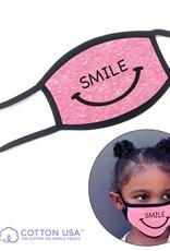 FACEMASK-KIDS SMILE PINK