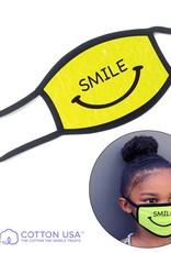 FACEMASK-KIDS SMILE NEON YELLOW