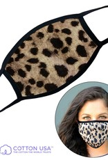 FACEMASK-LEOPARD PLAIN