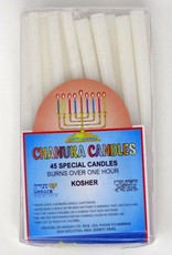 "Candle-Chanukah Candles-White-4"" (Pack of 45)"