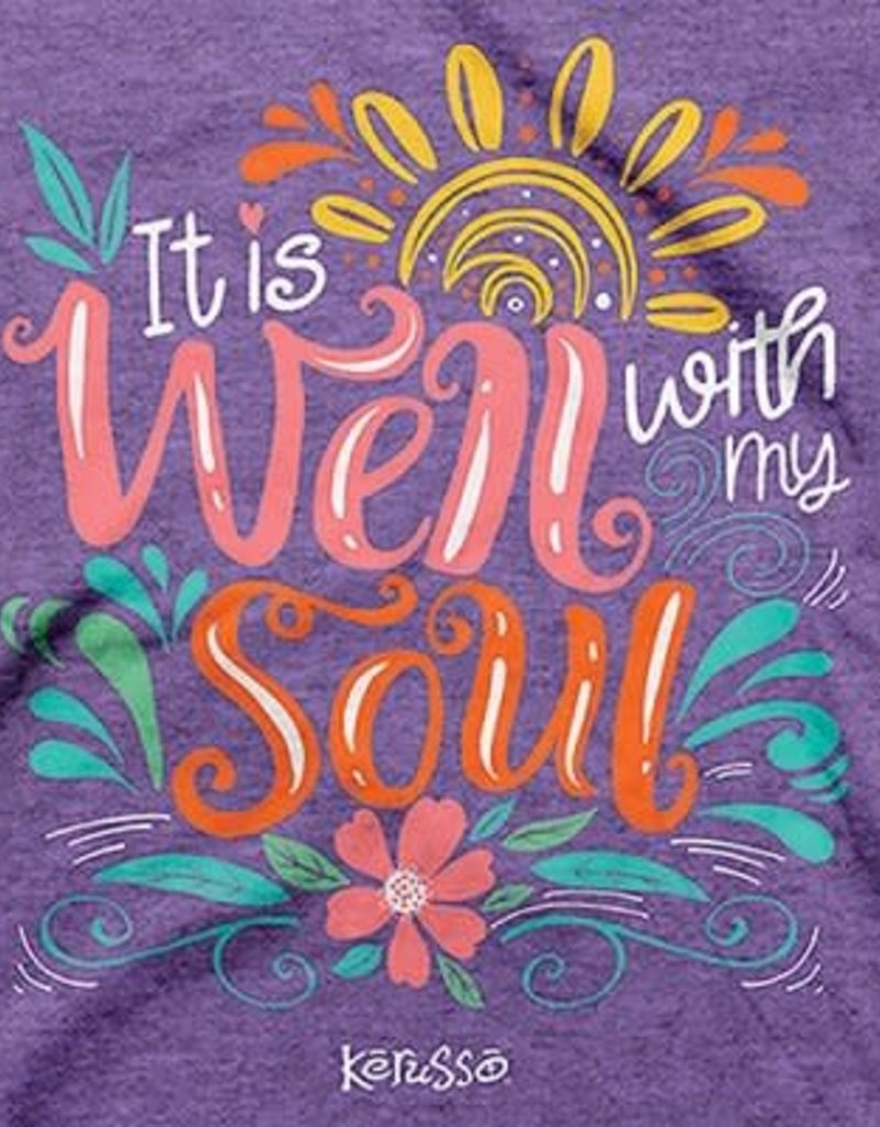 It Is Well With My Soul Shirt, Purple, Medium