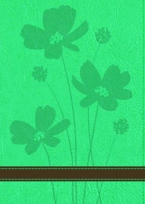Baker Publishing Group GW Personal Size Giant Print Bible Turquoise/Brown, Flower Design Duravella (CC)