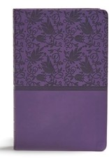 KJV Giant Print Reference Bible-Purple LeatherTouch