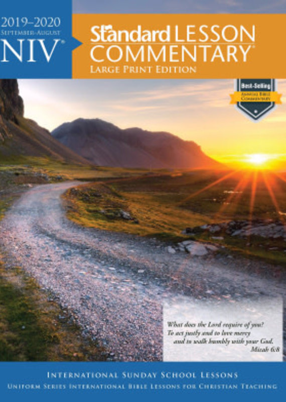 Standard Publishing NIV Standard Lesson Commentary 2019-2020-Large Print Edition