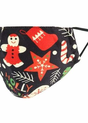 Adult Christmas Holly Jolly Holiday Face Mask