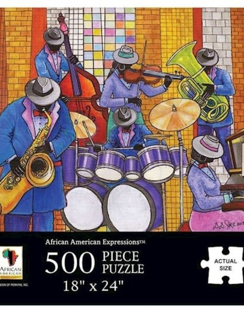 African American Expressions Jigsaw Puzzle-Jazz Band