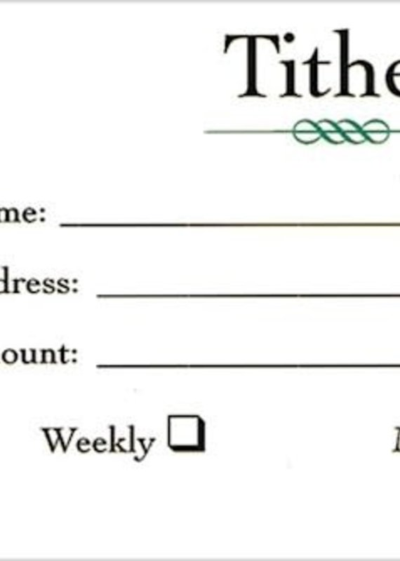 B & H Publishing Offering Envelope-Tither (Pack Of 100)