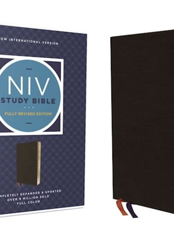 Zondervan NIV Study Bible (Fully Revised Edition) (Comfort Print)-Black Bonded Leather Indexed