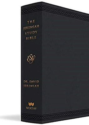 Worthy Publishing ESV The Jeremiah Study Bible-Black Leatherluxe