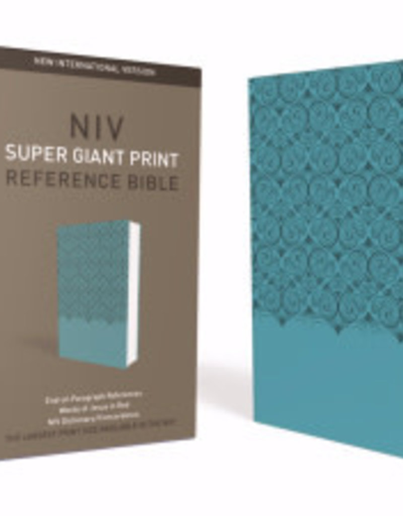 Zondervan NIV Super Giant Print Reference Bible-Turquoise Leathersoft