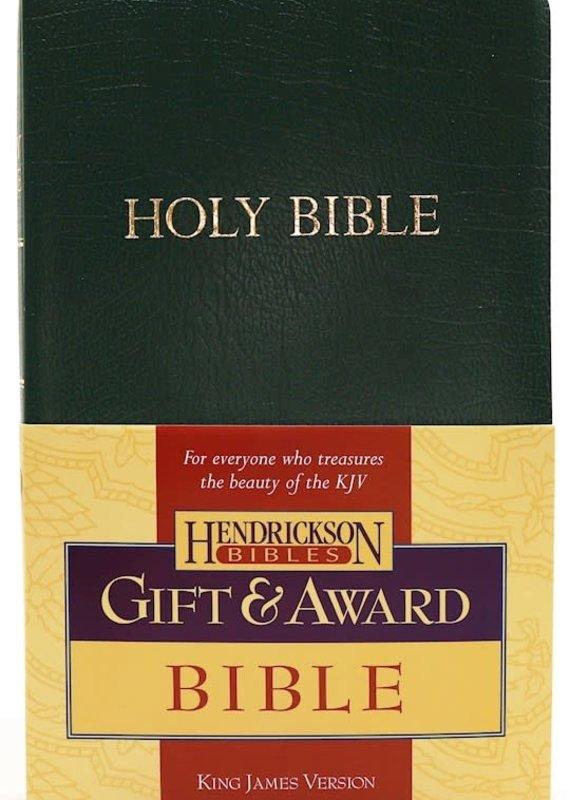 Hendrickson KJV Gift And Award Bible Green