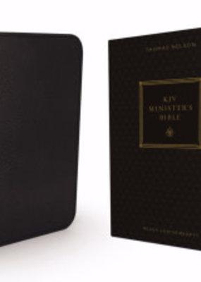 KJV Minister's Bible (Comfort Print)-Black Leathersoft
