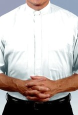 "Men's Short-Sleeve Tab-Collar Clergy Shirt  size 20 1/2""- White"