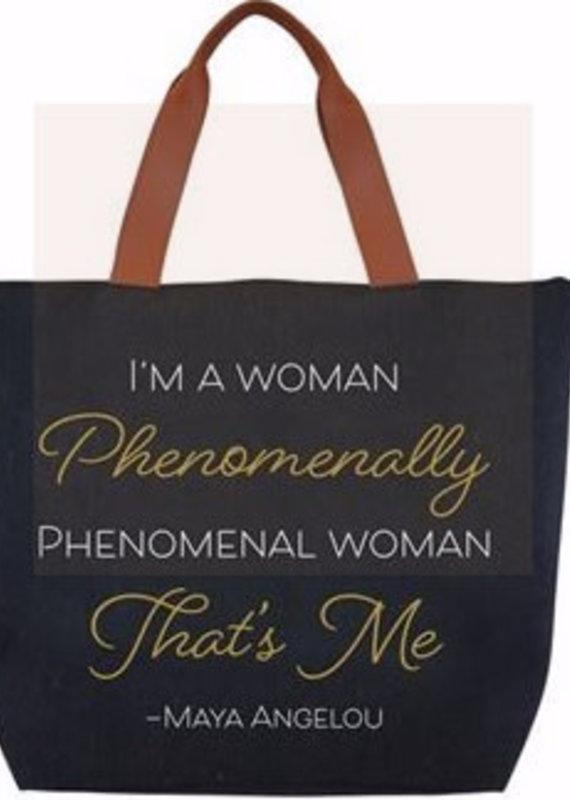 African American Expressions Canvas Handbag Phenomenal