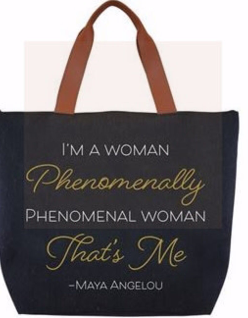 African American Expressions Canvas Handbag-Phenomenal-Maya Angelou