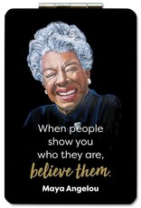 African American Expressions Compact Mirror-Maya Angelou Believe