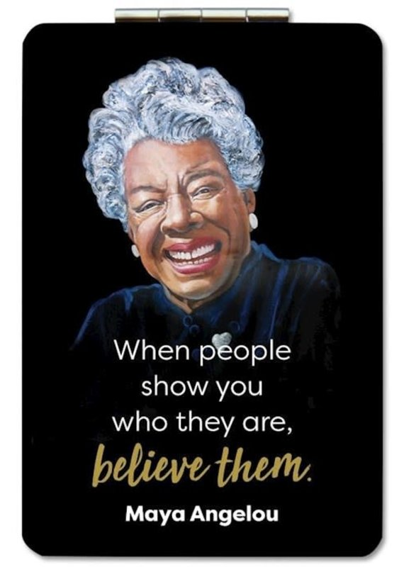 African American Expressions Compact Mirror Maya Angelou Believe