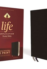 Zondervan NIV Life Application Study Bible-Large Print (Third Edition)-Black Bonded Leather Indexed