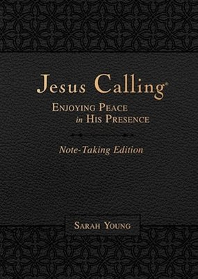 Nelson Books Jesus Calling Note-Taking Edition-Black LeatherSoft