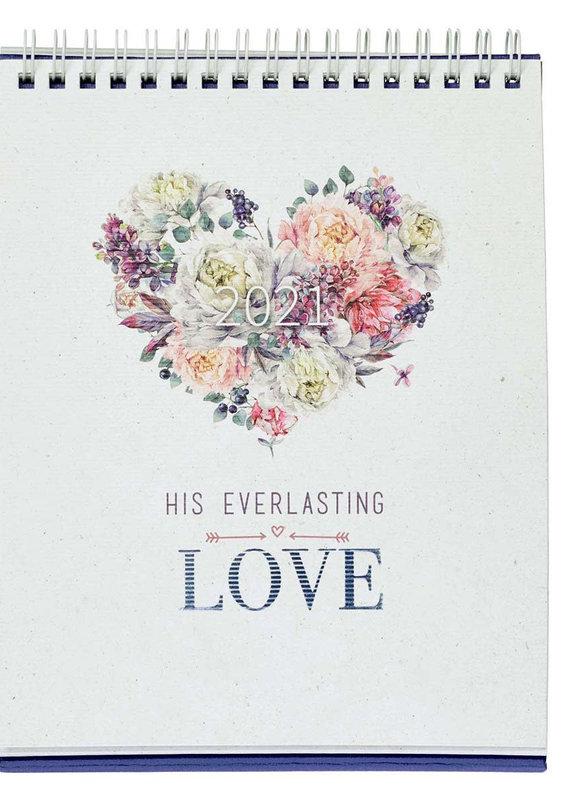 His Everlasting Love 2021 Desktop Calendar