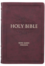 Burgundy Faux Leather Large Print Thinline KJV Bible with Thumb Index