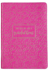 Grateful Heart Zippered Faux Leather Journal