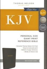 KJV Reference Personal Size Giant Print Bible Black Bonded