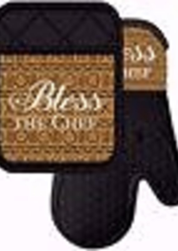 African American Expressions Bless the Chef Pot Holder Set