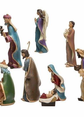 Kurt Adler Kurt Adler Resin Nativity Figurine Set, 6.25-Inch, Set of 8