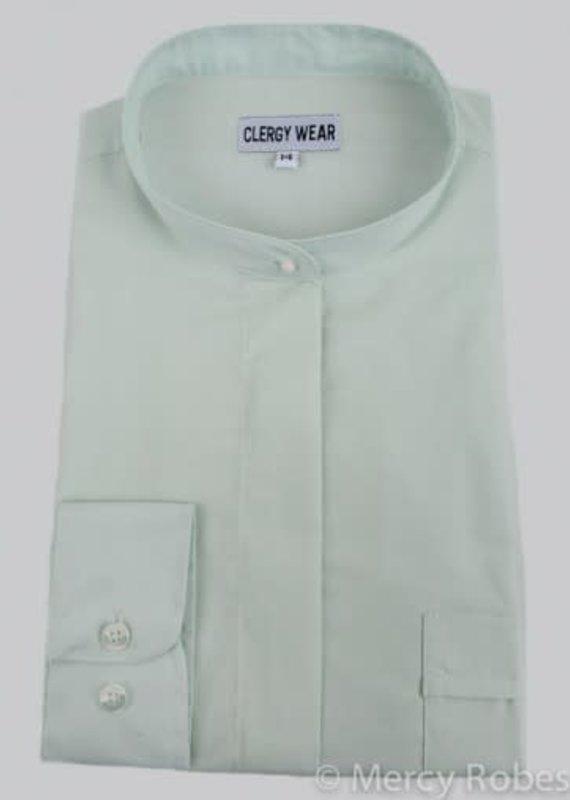 Ladies LS Full Collar Clergy Shirt XXL