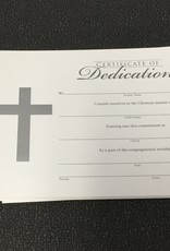 Certificate of Dedication Silver Cross