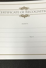 Certificate of Recognition Gold Single
