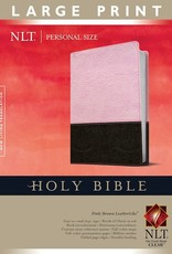 NLT2 Personal Size Large Print Bible-Pink/Brown TuTone Indexed