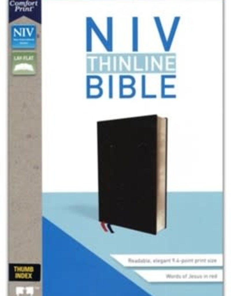Zondervan NIV Thinline Bible Black, Bonded Leather, Indexed